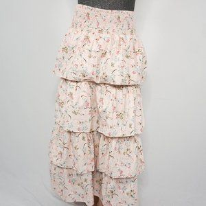 WEWOREWHAT Pink Dry Flowers PALOMA Skirt L NWT